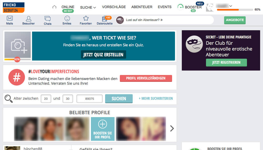 FriendScout24-Start